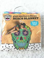 Giant 5' x 4' Sugar Skull Jade/Turquoise Beach Pool Blanket Towel Park Big Mouth