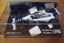 1/43 WILLIAMS 1994 RENAULT FW16 NIGEL MANSELL GP FRANCE 3 JULY 1994