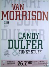 Van Morrison & Candy Dulfer German 1998 Concert Poster