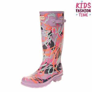 DISNEY X HUNTER Kids Wellington Boots EU 37 UK 4 US 5-6 Reflective Mary Poppins
