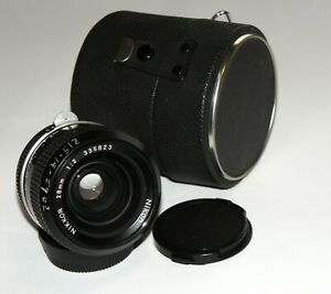 Great Nikon Nikkor 28 mm F2.0 non-Ai Fast WIde Angle Lens Great for photo+video