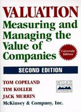 Measuring and Managing the Value of Companies (Second Edition),Tom Copeland, Ti