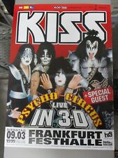 German Euro Rock Concert Poster Kiss : Psycho Circus Live In 3-D + Special Guest