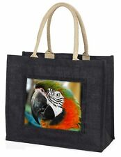 Face of a Macaw Parrot Large Black Shopping Bag Christmas Present Id, AB-PA75BLB