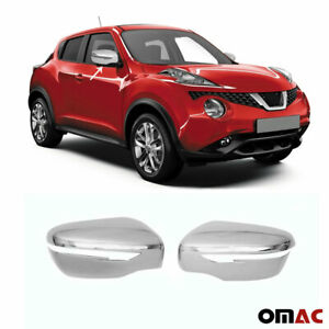 Fits Nissan Juke 2015-2017 Chrome Side Mirror Cover Cap 2 Pcs