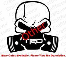 Die Cut Skull Mask Toyota Trd Racing Window Vinyl Sticker Decals Punisher Rc060