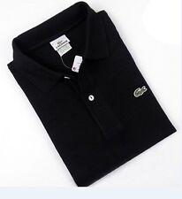Men's LACOSTE Black Short Sleeve Polo Shirt EUC ~ SZ 7(XL)