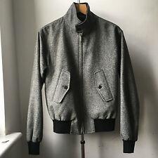 Very Cool MACKINTOSH Made in Scotland grey wool harrington jacket 38