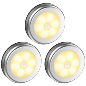 3*LED Night Light USB Rechargeable Motion Body Sensor Smart Energy Saving Sensor