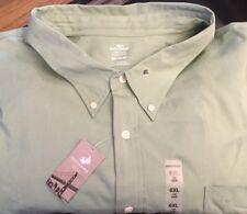 NWT Men Big Tall DOCKERS Green Dress Button Down Shirt XXXXXXL 6XL 6X 6 XL