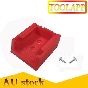 holders mounts brackets storage for Milwaukee M18 tool battery(Red) + 2PCS Screw