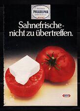 3w699/vecchia pubblicità con loghi di 1979-formaggio fresco Philadelphia