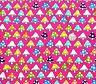Mushrooms on Pink fabric fq 50x56 cm JL 86762