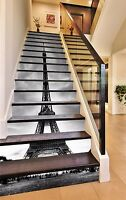 3D Paris Eiffel Tower 484 Risers Decoration Photo Mural Vinyl Decal Wallpaper CA