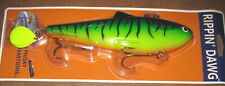 "10"" Rippin Dawg Musky Innovations Muskie Pike Lure Firetiger 6004"