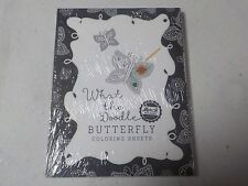 Papertrey Ink What The Doodle Butterfly Coloring Sheets 4.25X5.5 18 Pcs A4037
