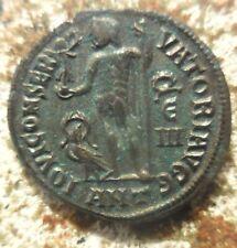 Relisted: VF+ Licinius I AD 308-324 Antioch Follis 20.5 mm 3.75 g, Wreath E-III.
