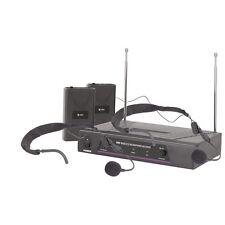 Qtx VHF dual diadema Inalámbrico radio Micrófono sistema 174.1 & 175.0mhz
