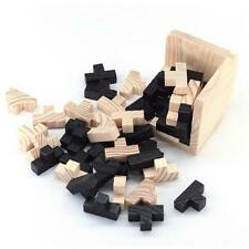 Wooden Intelligence Games 3D Wood IQ Puzzle Brain Teaser Cube Gifts CH