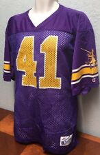 Vtg Made In Usa Champion. #41 Mesh Football Jersey Purple & Gold Men's Medium