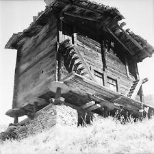 ZERMATT c. 1948 - Vieux Chalet Suisse - Négatif 6 x 6 - Sui 299