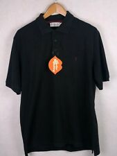 YVES SAINT LAURENT Mens Polo Shirt YSL SPELL OUT Short Sleeve Large P40