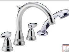 Delta T4788-GLHP  Roman Tub Faucet Trim Only with Hand Shower chrome hndls incl