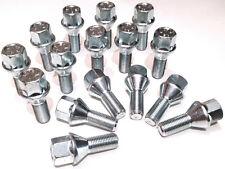 alloy wheel bolts nuts lugs M12 x 1.5 - m12x1.5, 17mm Hex, taper seat x 16
