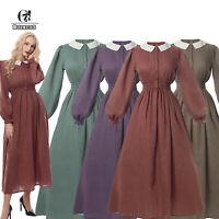 Women Civil War Victorian Skirt Costume American Pioneer Colonial Prairie Dress