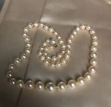 "ESTATE 17"" SALTWATER 9 -5 mm GRADUATED  CULTURED SALTWATER PEARL NECKLACE"