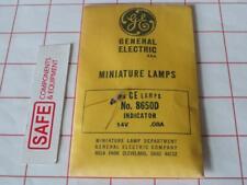GE Miniature Bulb 8650D QTY-25 Side Wire Base T1-3/4 Flat 11.5mm 14V .08A MM-600