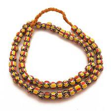 "Chevron Glass Beads Multi-Color Necklace 24"" Nepalese Handicraft UN14"
