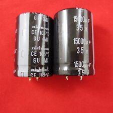 2pc lot Nichicon LGU1V153MELB  35V 15000uF 105deg 30mm x 35mm