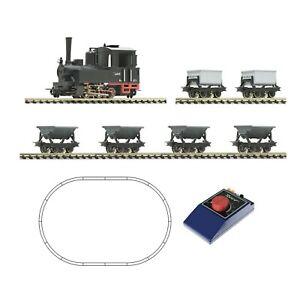 HOe Scale Train Set - 31033 - Light railway steam locomotive and lorry train