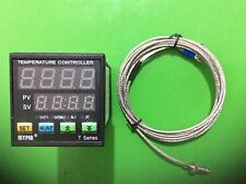 90-265V AC/DC Digital F/C PID Temperature Controller Thermostat TA4-SNR+K Sensor
