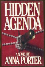 Hidden Agenda by Anna Porter-First Edition/DJ-1986-Author's First Novel