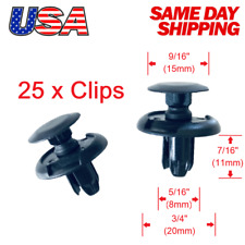 🔥Set of 25  Front Fender Liner Push Trim Retainer Clips 91512-SXO-003 for Acura