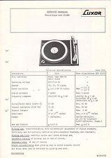 LUXOR service manual istruzioni record player lg-900 b1607