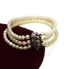 Bracciali di lusso con perle in oro bianco