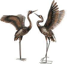 Crane Metal Statue Art Accent Bird Patio Porch Lawn Garden Yard Heron Decor Pond