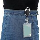 2-Pack Transparent card cover ID Badge Holder Hard Plastic Card Holders Vertical