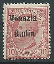 1918-19 VENEZIA GIULIA EFFIGIE 10 CENT MNH ** - P13