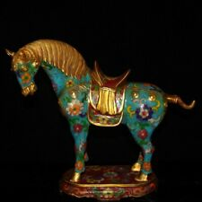 Chinese antique Craft collection Cloisonne horse