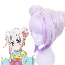 Miss Kobayashi's Dragon Maid Kamui Kanna Kimono Purple Cosplay Buns Wig
