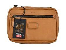 Tumi Tan Leather Limited Edition Large Travel Kit Bag 055057TN New $295