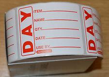 1000 Food Labels in dispenser Food date labels day labels