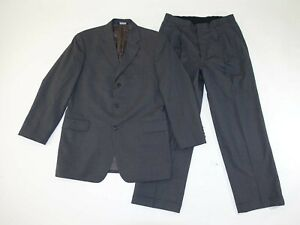 Brooks Brothers Men's 3 Button Suit Size 42 Long 32 x 29 Gray 100% Wool 42L