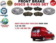 FOR SEAT INCA BOX VAN 6K9 95-03 FRONT BRAKE DISCS SET + BRAKE PADS KIT
