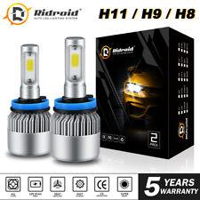 2x H11 H9 H8 LED Headlight Bulb Kit Low Beam Fog Light 1900W 6000K 285000LM
