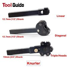 Single-Double-Six Wheel Knurler, Linear Diagonal Triple Head Knurling Tool 1/2""